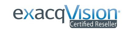 exacqVision Certified Reseller logo.