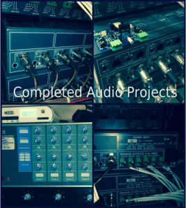 Completed audio projects.